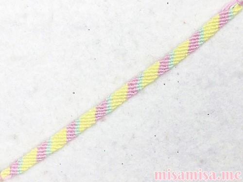 3色6本の斜め模様ミサンガ