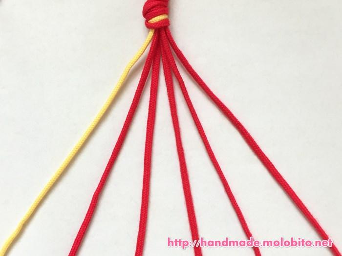 横巻き結びの編み方手順1