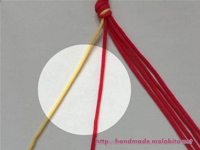 横巻き結びの編み方手順2