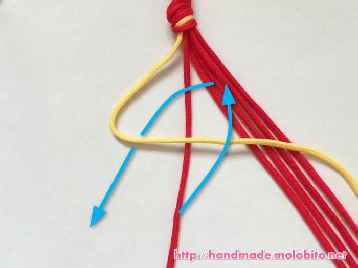 横巻き結びの編み方手順4