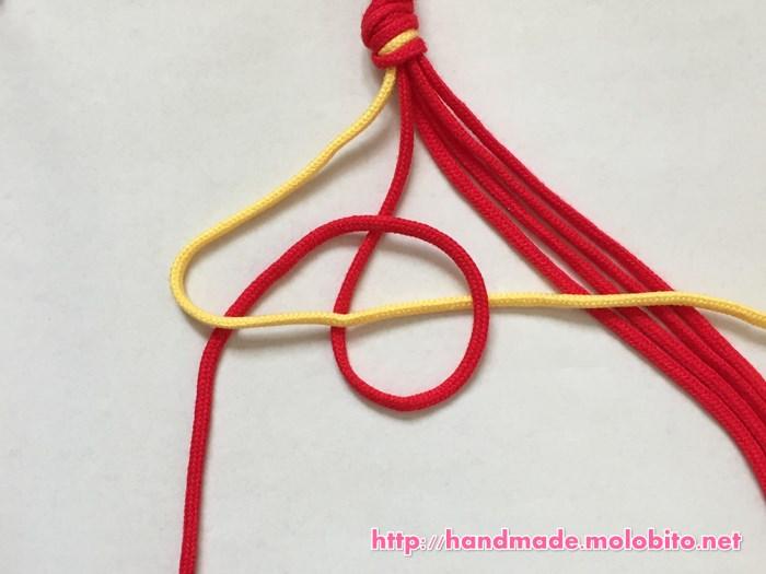 横巻き結びの編み方手順5
