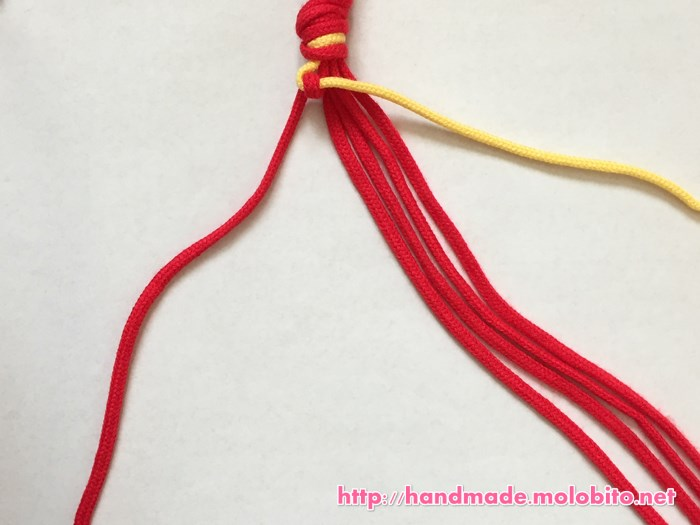 横巻き結びの編み方手順6