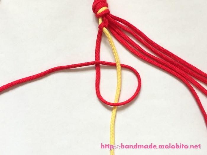 横巻き結びの編み方手順9
