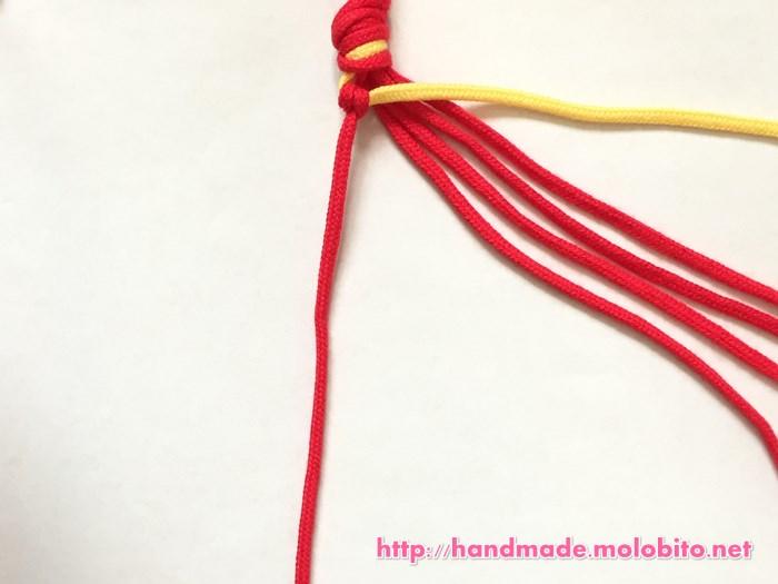 横巻き結びの編み方手順10
