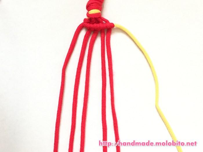 横巻き結びの編み方手順13
