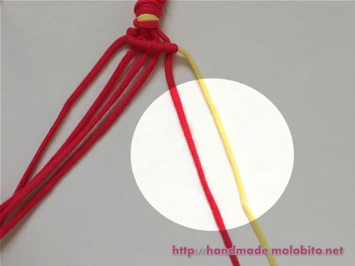 横巻き結びの編み方手順14