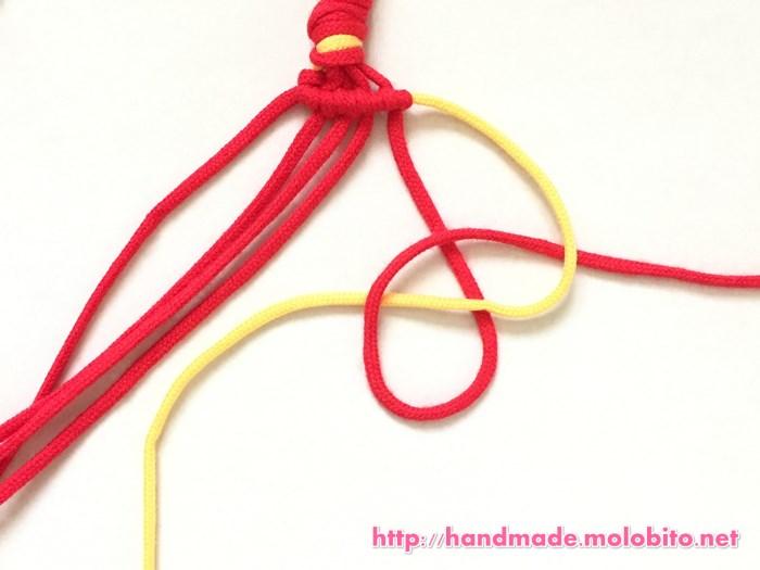 横巻き結びの編み方手順17