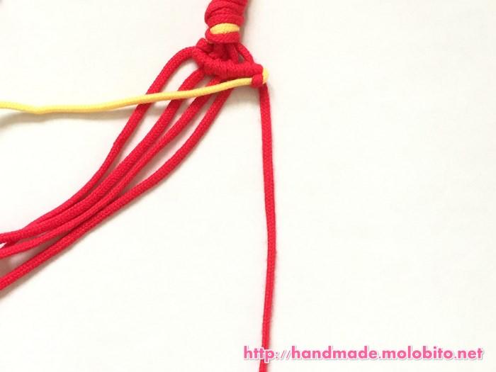横巻き結びの編み方手順18