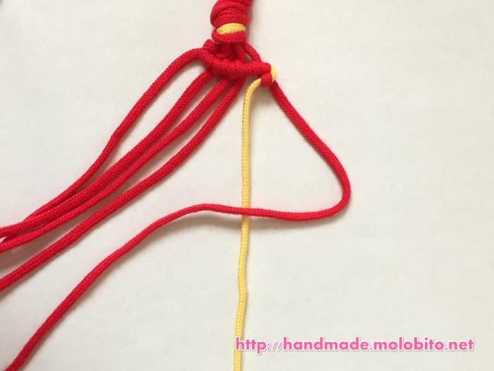 横巻き結びの編み方手順19