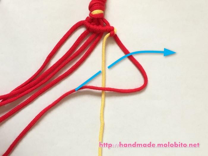 横巻き結びの編み方手順20