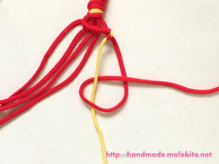 横巻き結びの編み方手順21