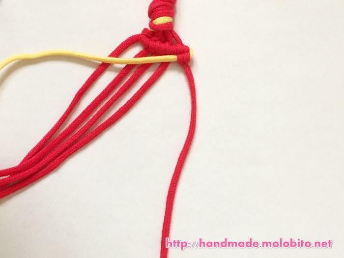 横巻き結びの編み方手順22