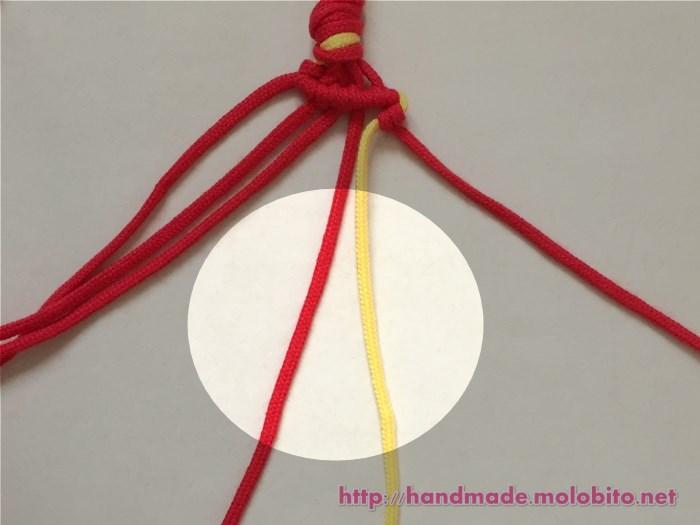 横巻き結びの編み方手順23
