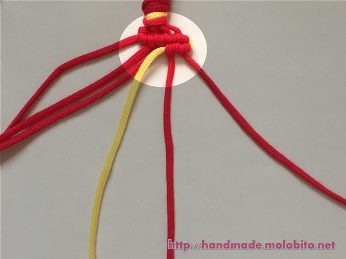横巻き結びの編み方手順24