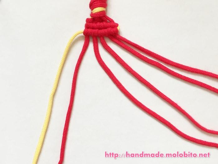 横巻き結びの編み方手順25