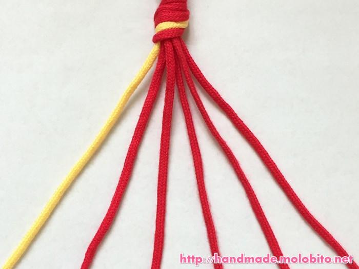 縦巻き結びの編み方手順1