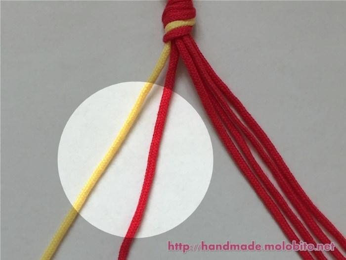 縦巻き結びの編み方手順2
