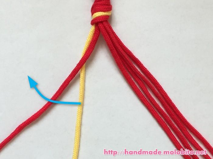 縦巻き結びの編み方手順5
