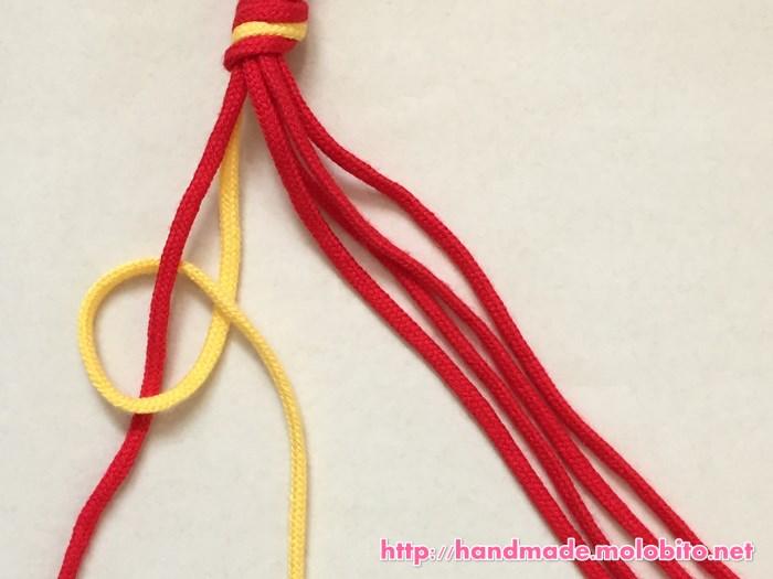 縦巻き結びの編み方手順8