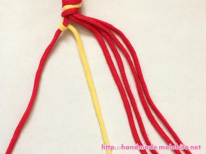 縦巻き結びの編み方手順9