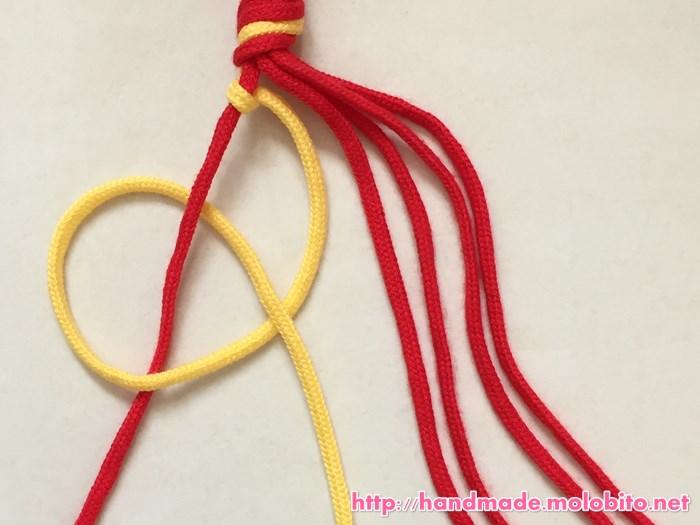縦巻き結びの編み方手順10
