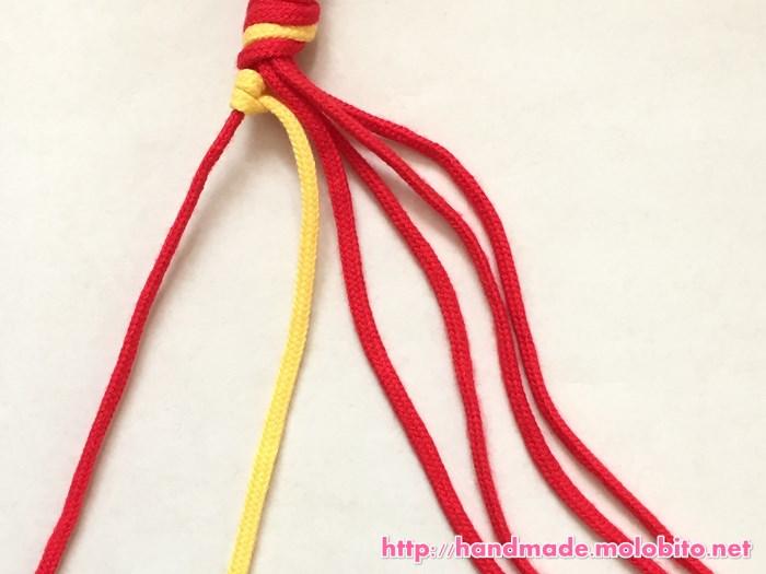 縦巻き結びの編み方手順11