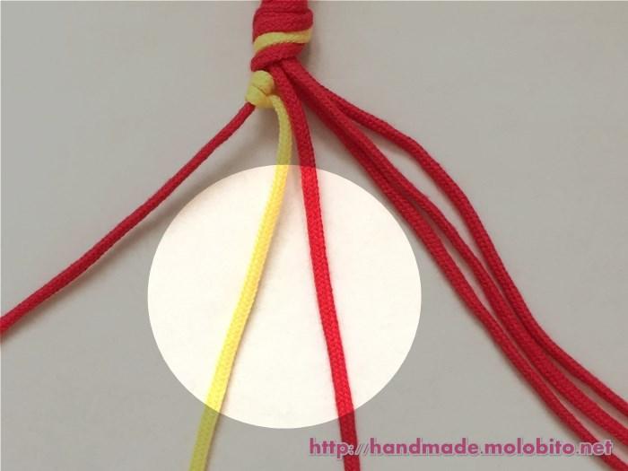 縦巻き結びの編み方手順12