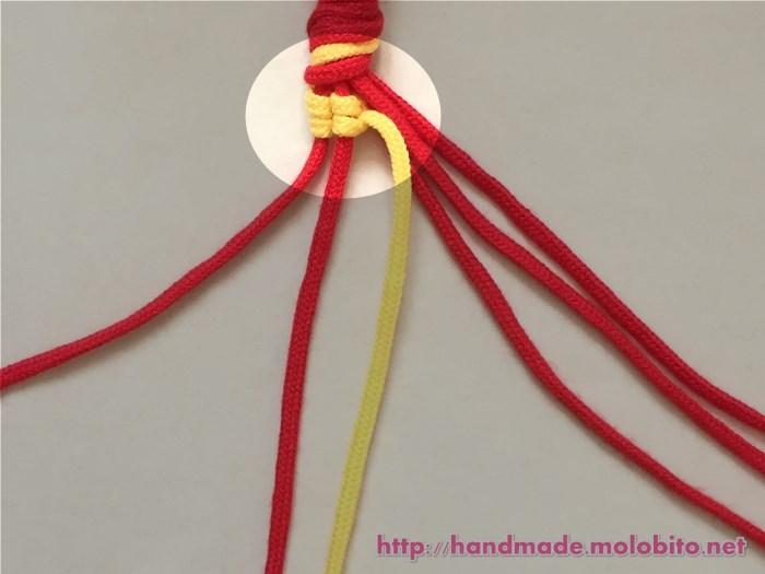 縦巻き結びの編み方手順13