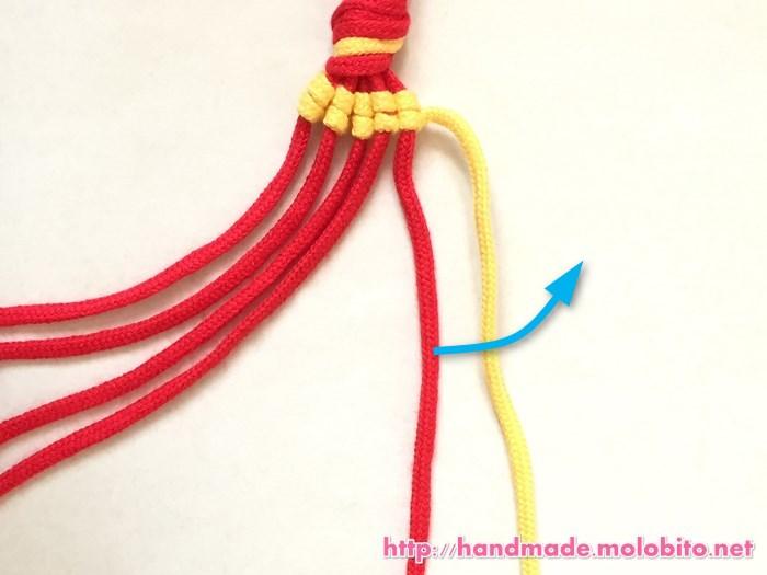 縦巻き結びの編み方手順16