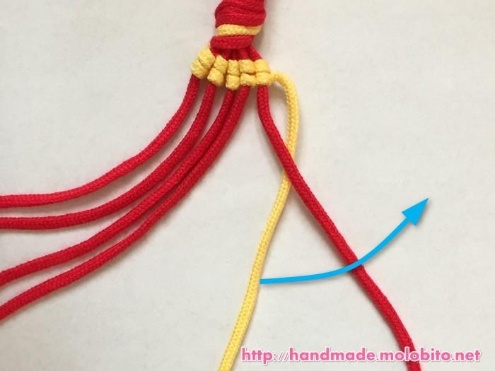 縦巻き結びの編み方手順18