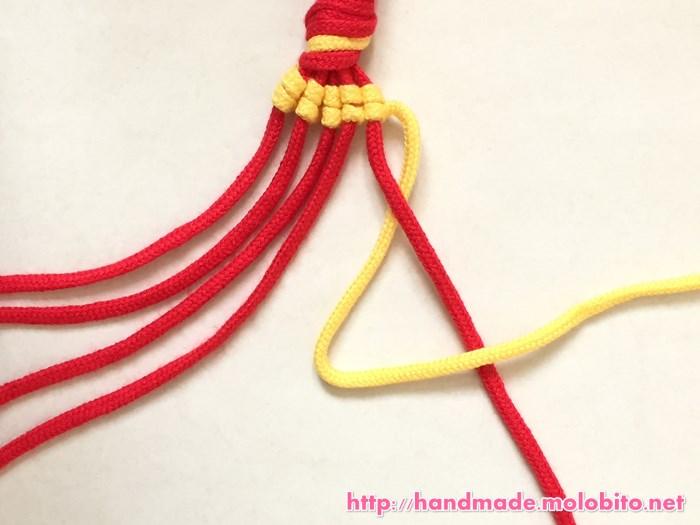 縦巻き結びの編み方手順19