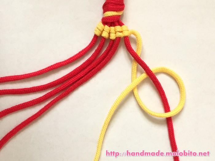 縦巻き結びの編み方手順21