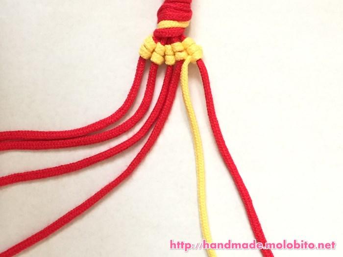縦巻き結びの編み方手順22