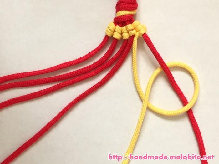 縦巻き結びの編み方手順23