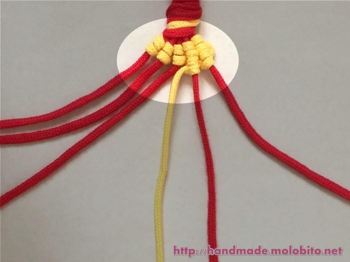 縦巻き結びの編み方手順26