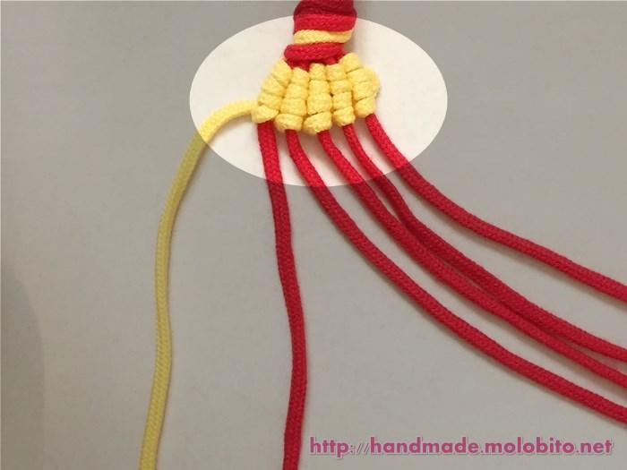 縦巻き結びの編み方手順27
