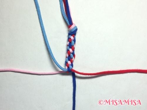 丸四つだたみミサンガの編み方手順10