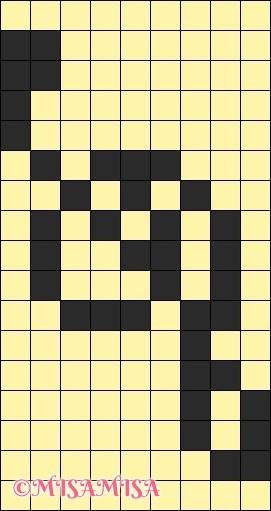 ト音記号の図案(ミサンガ用)