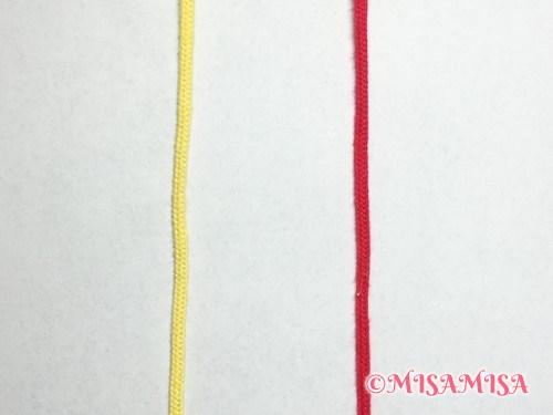 奇数列の背景の結び方手順1