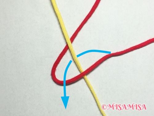 奇数列の文字の結び方手順3