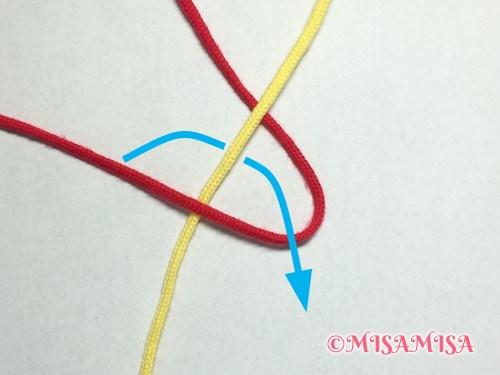 偶数列の文字の結び方手順3