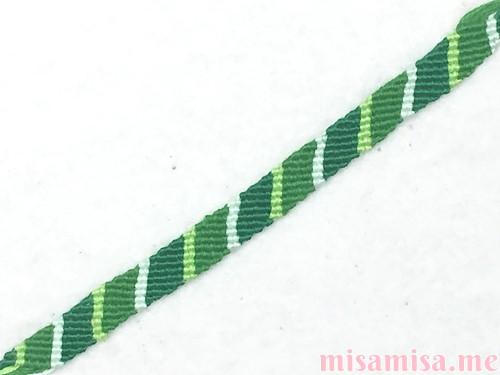 4色8本の斜め模様ミサンガ
