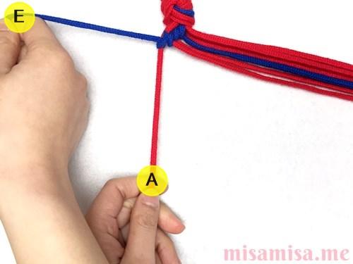 ひし形(ダイヤ)模様ミサンガの作り方手順27