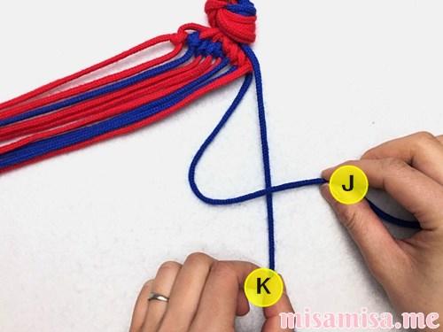渦巻き模様ミサンガの作り方手順69