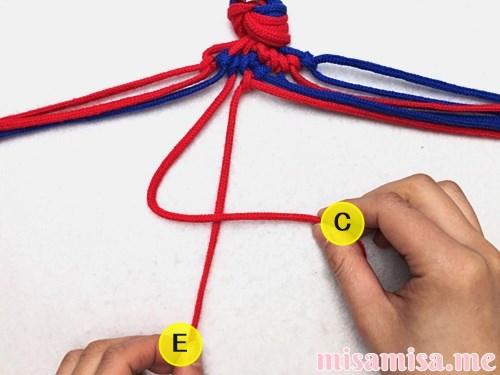 渦巻き模様ミサンガの作り方手順91