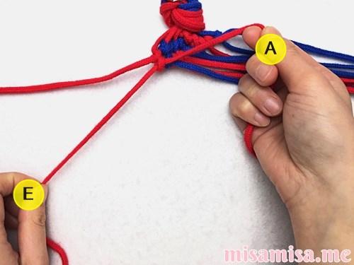 渦巻き模様ミサンガの作り方手順109