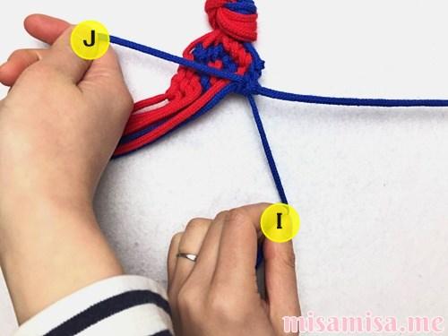 渦巻き模様ミサンガの作り方手順206