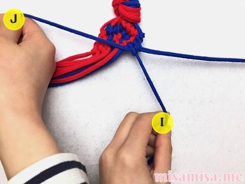 渦巻き模様ミサンガの作り方手順208