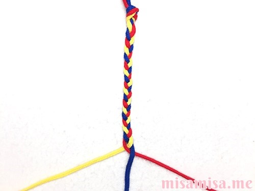三つ編みミサンガの作り方手順11