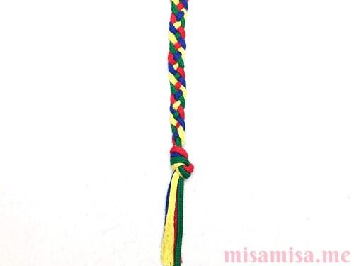 平四つ編みミサンガの作り方手順12